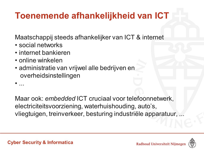 Toenemende afhankelijkheid van ICT