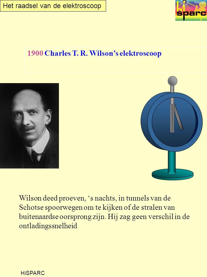 1900 Charles T. R. Wilson's elektroscoop