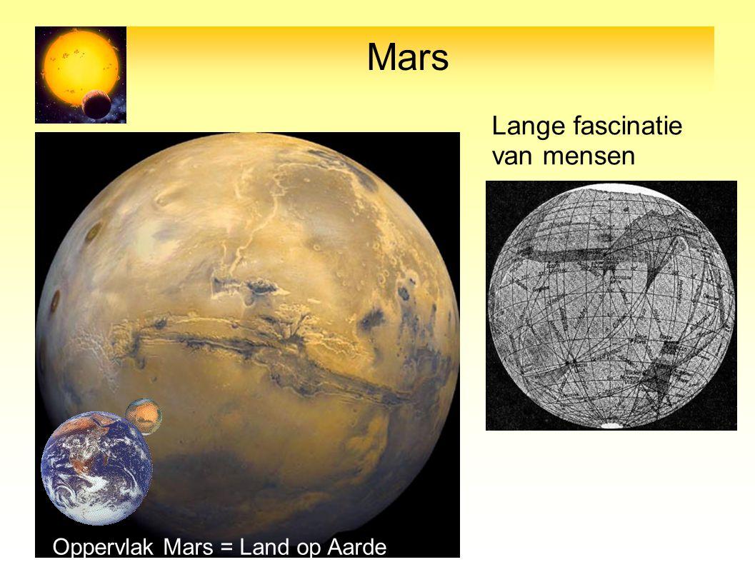 Mars Lange fascinatie van mensen Oppervlak Mars = Land op Aarde 17