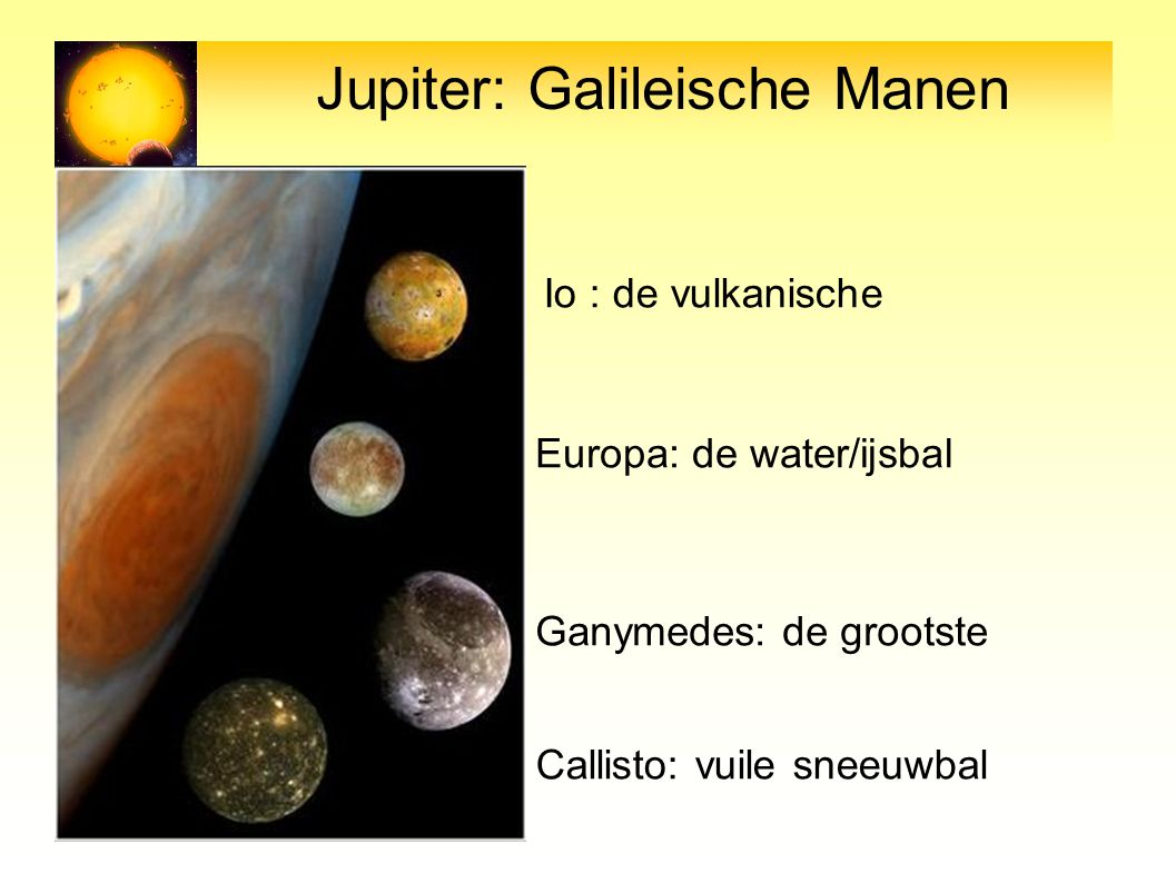 Jupiter: Galileische Manen
