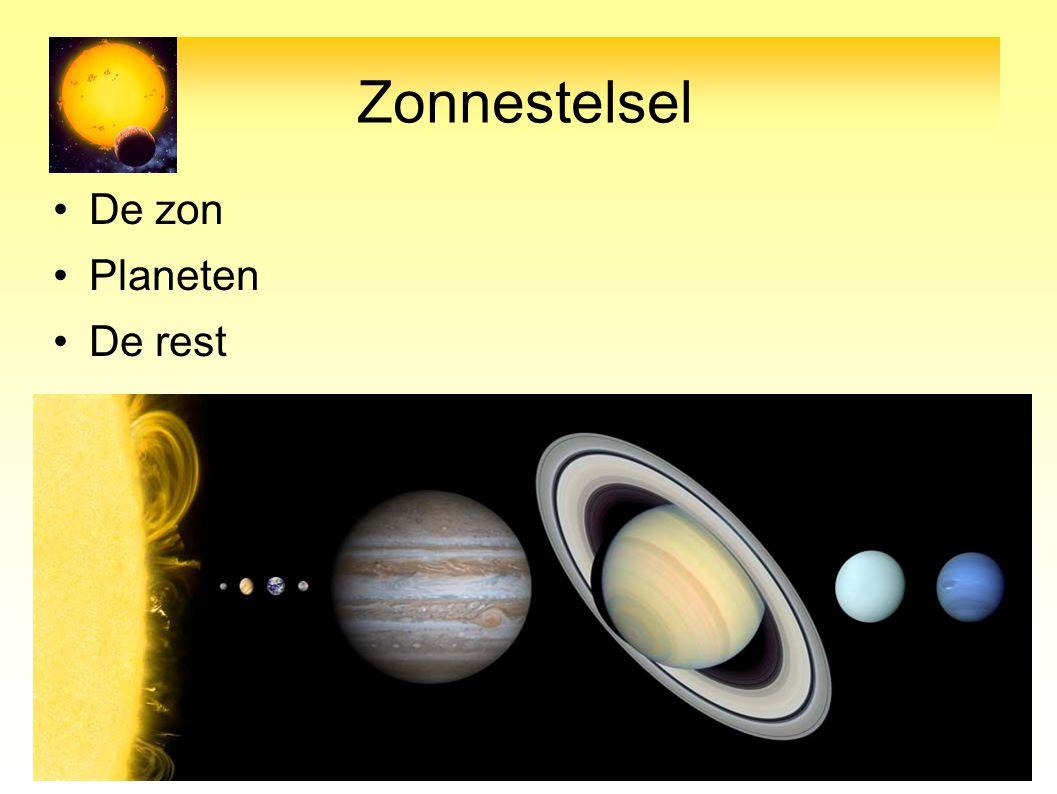 Zonnestelsel De zon Planeten De rest