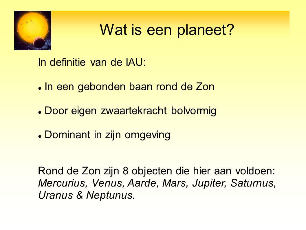 Wat is een planeet In definitie van de IAU: