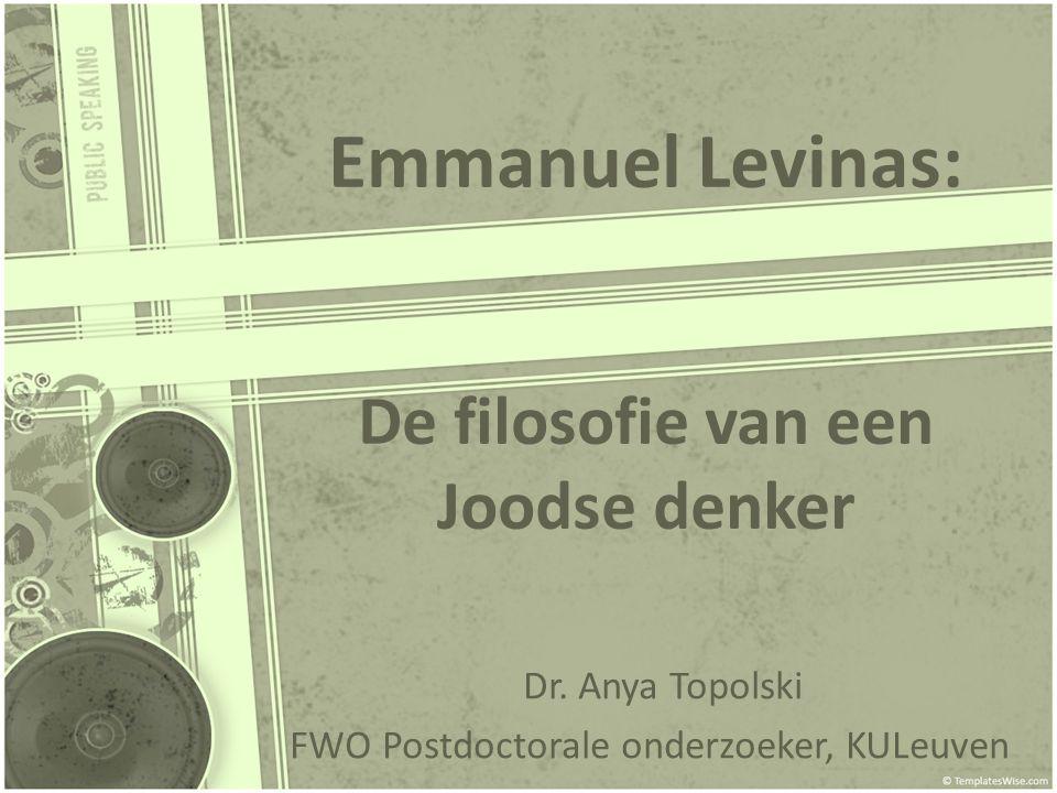 Emmanuel Levinas: De filosofie van een Joodse denker