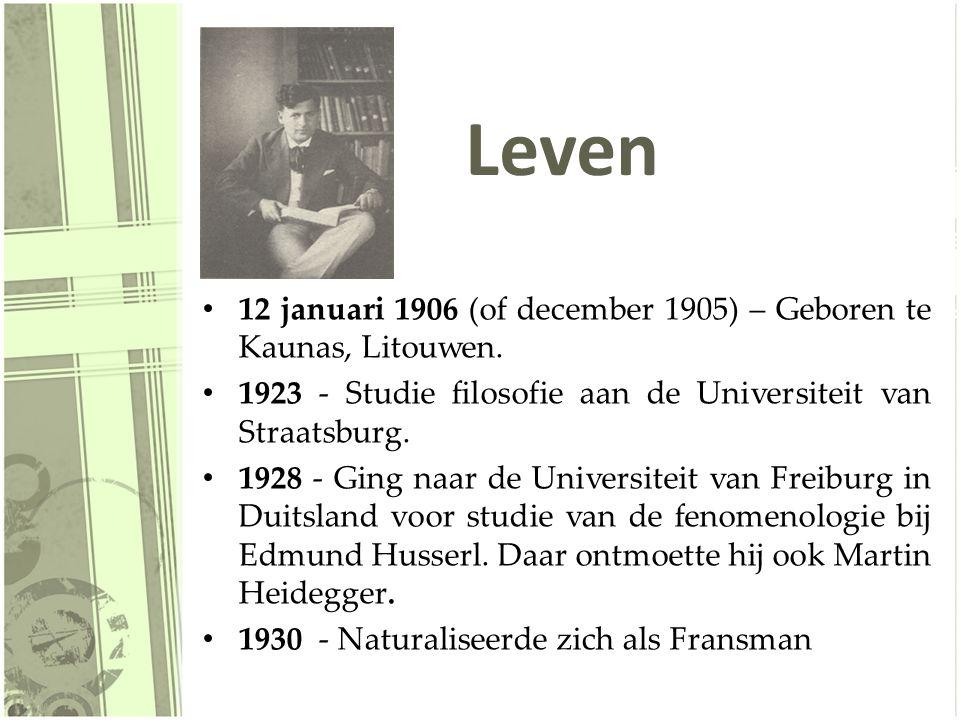 Leven 12 januari 1906 (of december 1905) – Geboren te Kaunas, Litouwen. 1923 - Studie filosofie aan de Universiteit van Straatsburg.