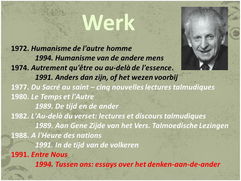 Werk 1972. Humanisme de l autre homme