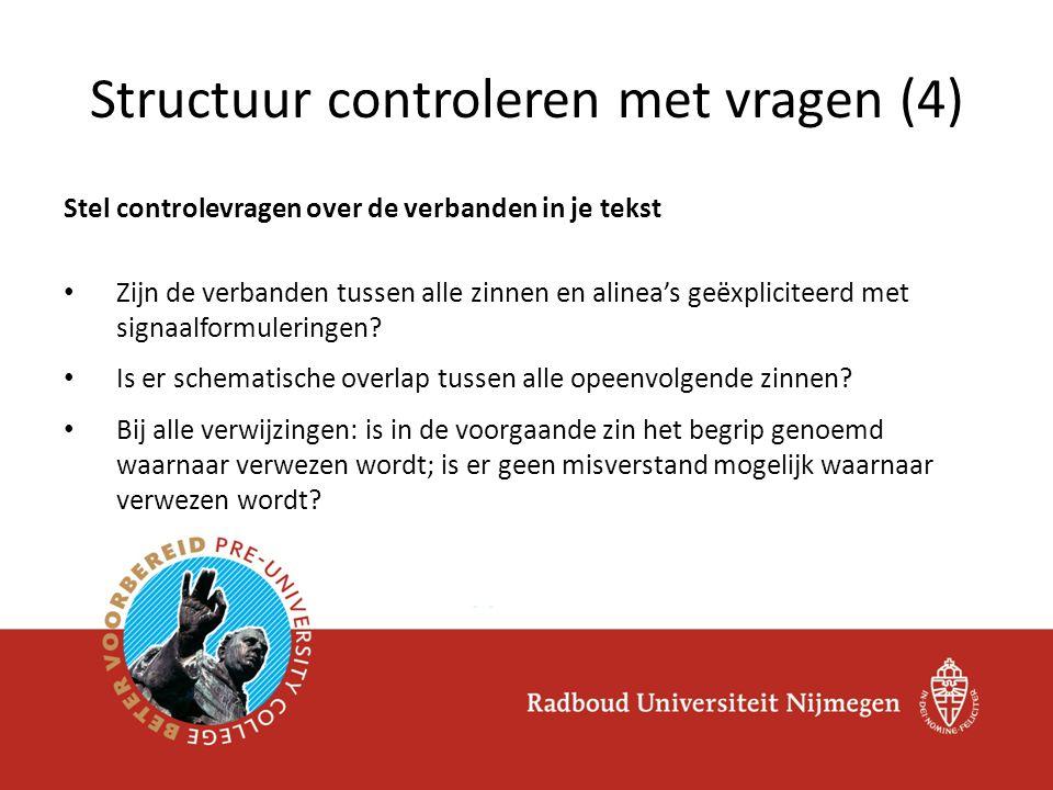 Structuur controleren met vragen (4)
