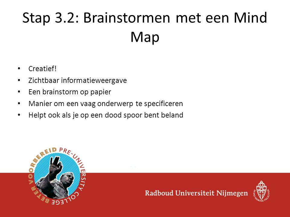 Stap 3.2: Brainstormen met een Mind Map