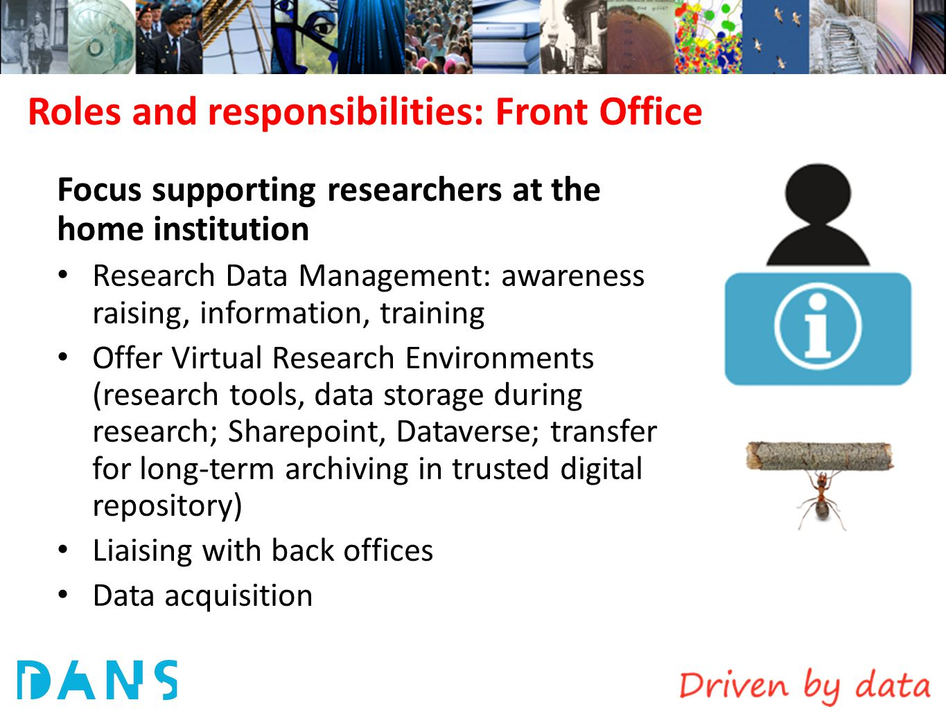 Roles and responsibilities: Front Office