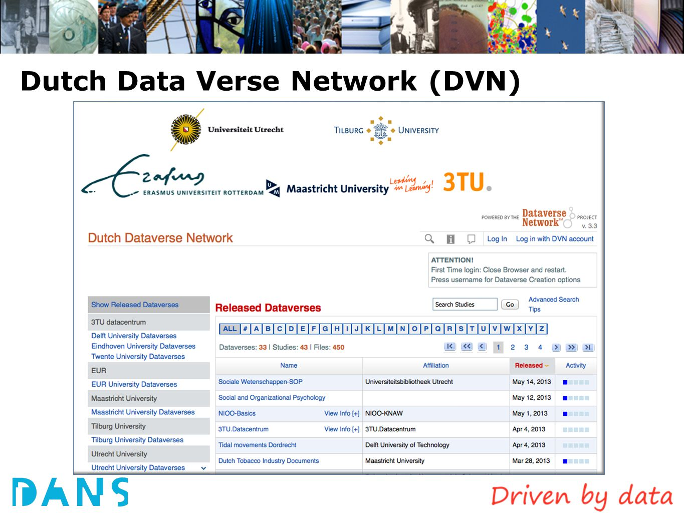 Dutch Data Verse Network (DVN)
