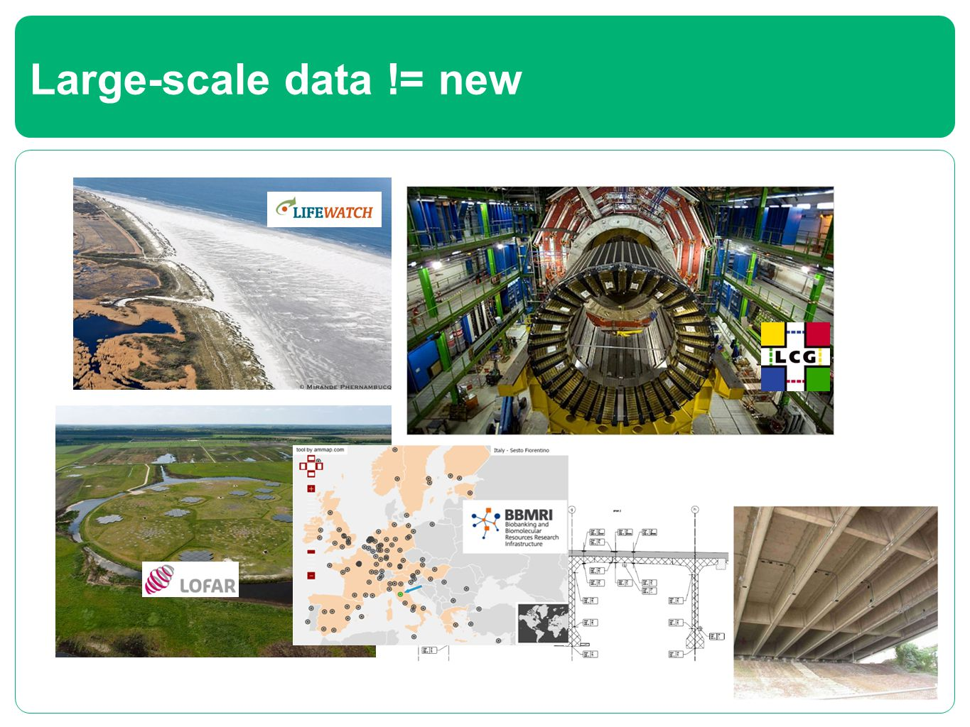Large-scale data != new