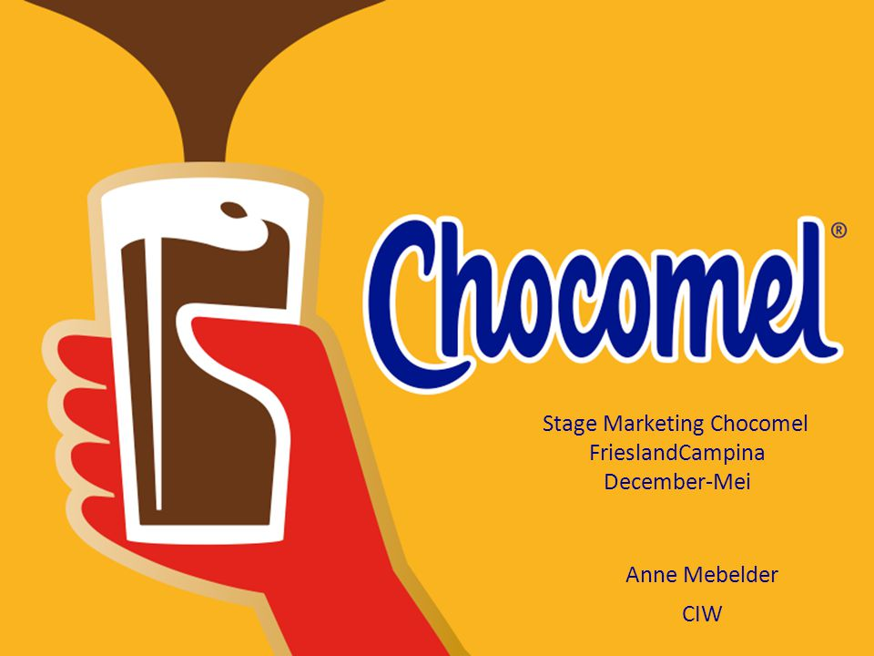 Stage Marketing Chocomel FrieslandCampina December-Mei