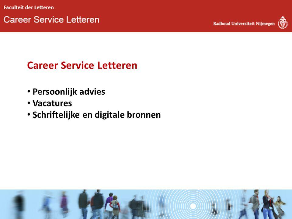 Career Service Letteren