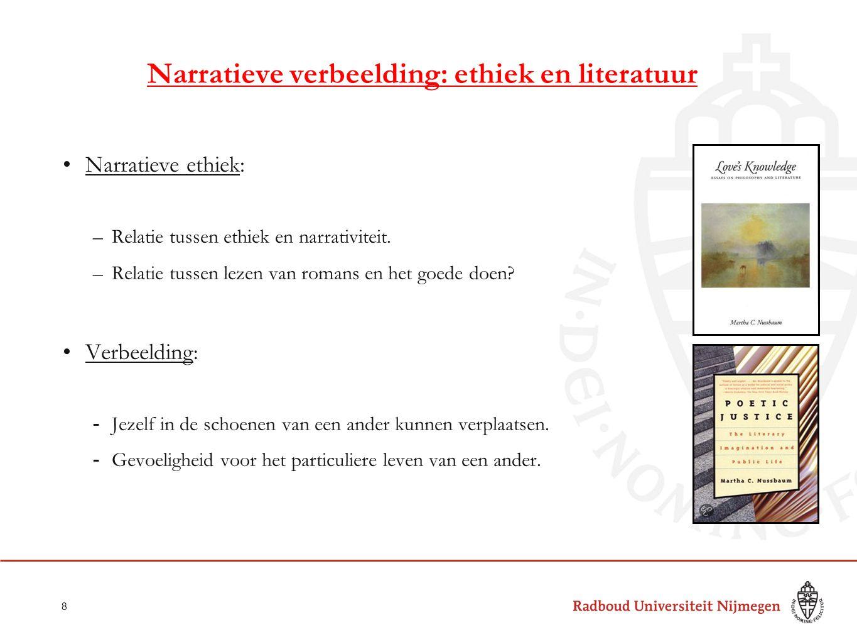 Narratieve verbeelding: ethiek en literatuur
