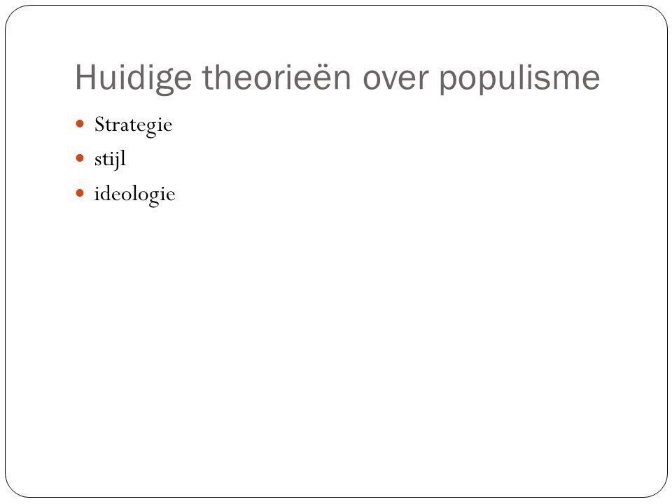 Huidige theorieën over populisme