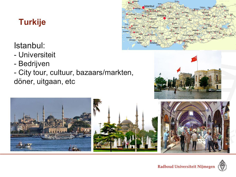Turkije Istanbul: - Universiteit - Bedrijven