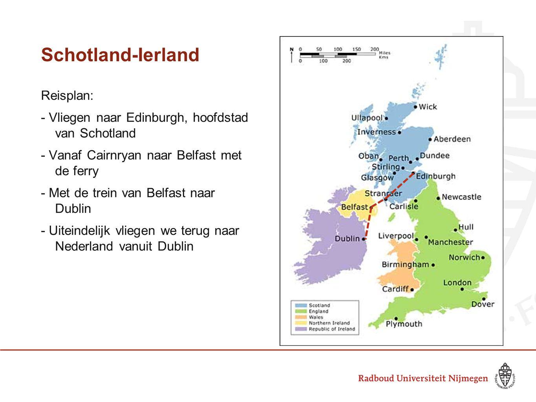 Schotland-Ierland Reisplan: