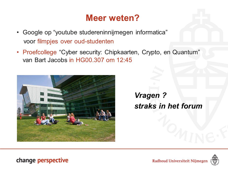 14141414 Meer weten Vragen straks in het forum