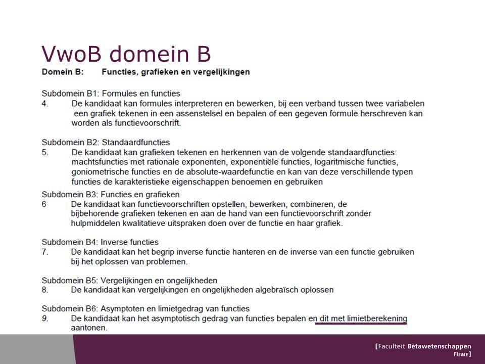 VwoB domein B Denk aan perforaties. Geen epsilon-delta