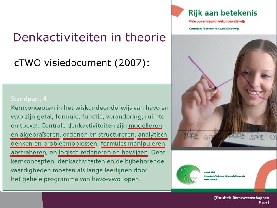 Denkactiviteiten in theorie