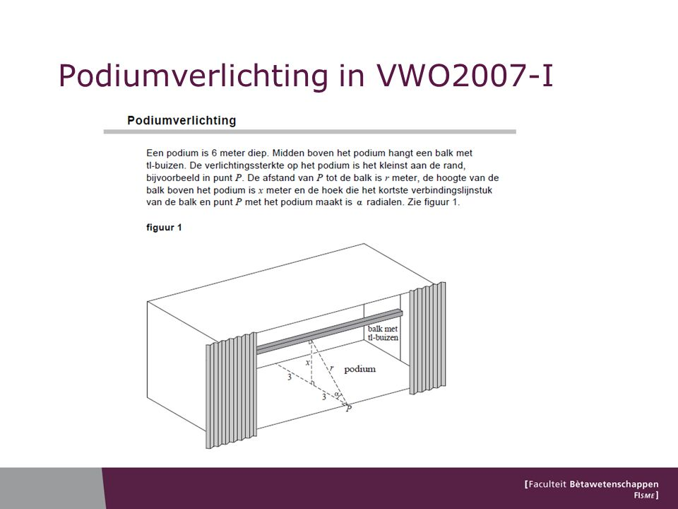 Podiumverlichting in VWO2007-I