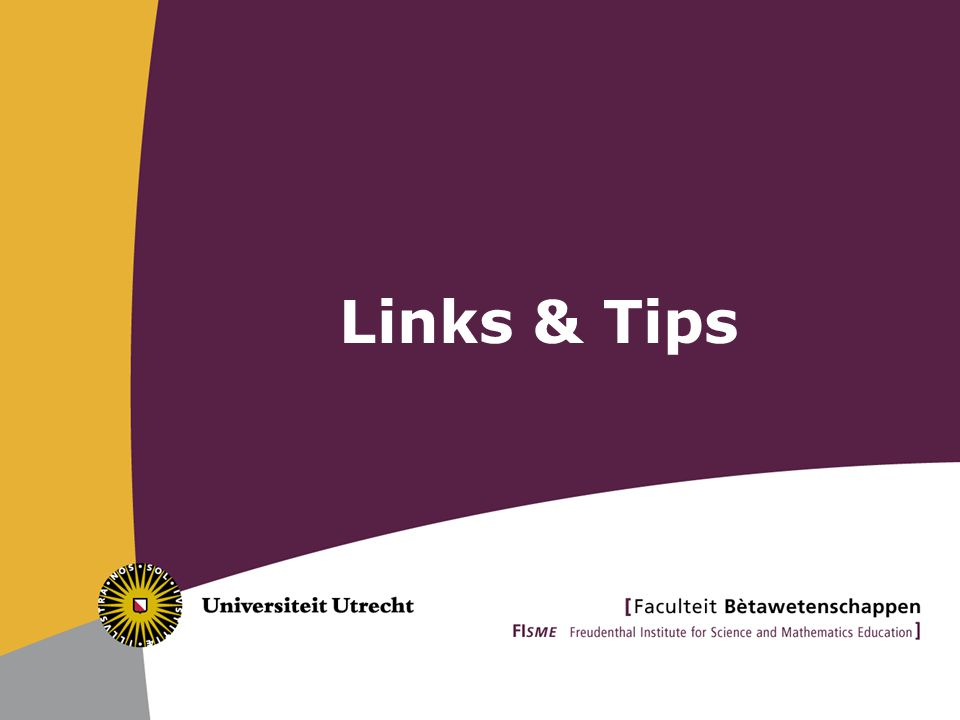 Links & Tips