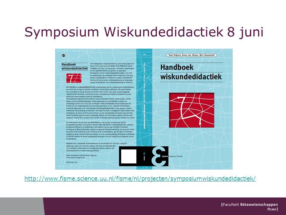 Symposium Wiskundedidactiek 8 juni