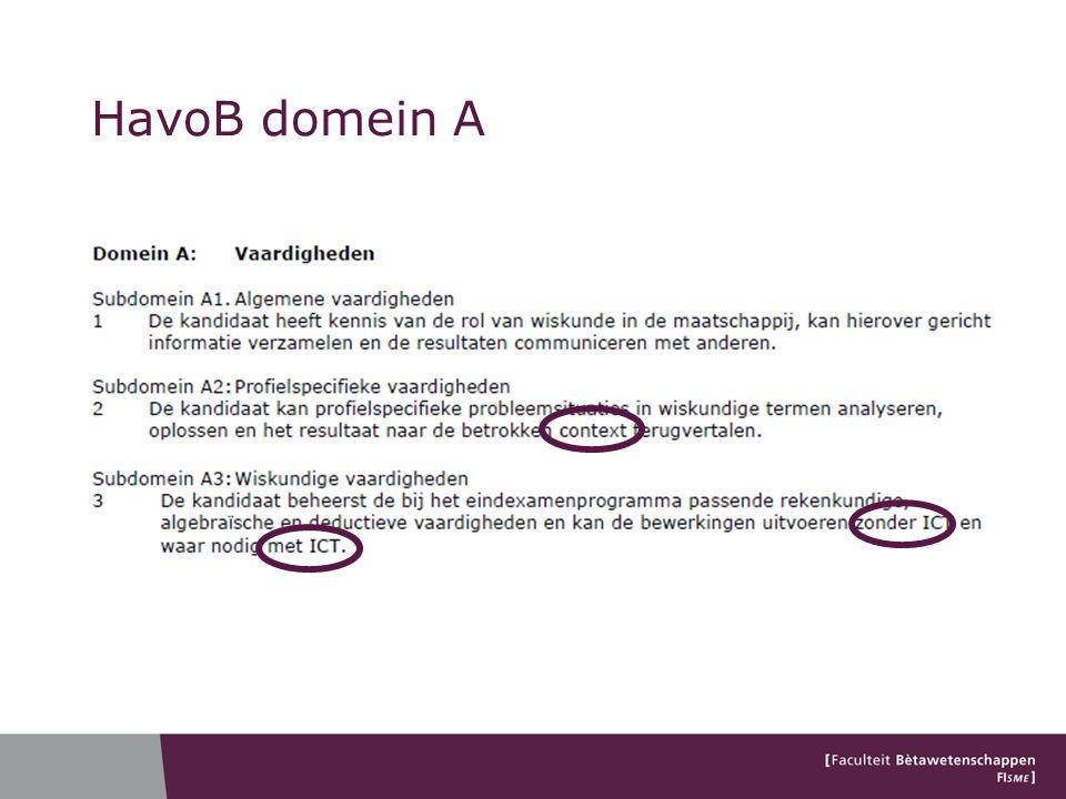 HavoB domein A