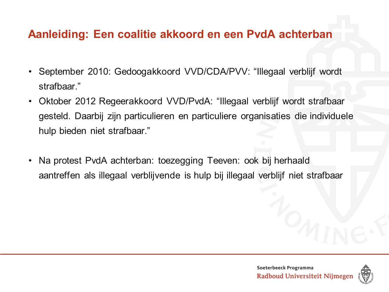 Aanleiding: Een coalitie akkoord en een PvdA achterban
