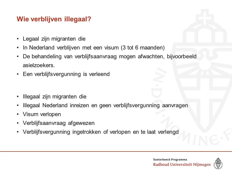 Wie verblijven illegaal