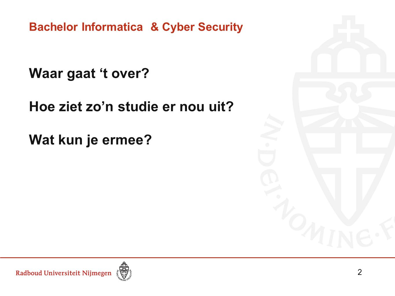 Bachelor Informatica & Cyber Security