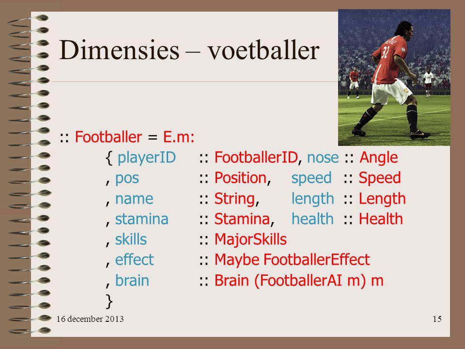 Dimensies – voetballer