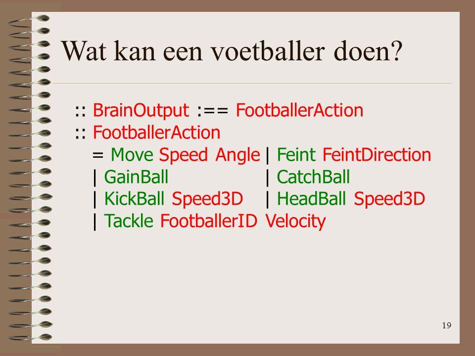 Wat kan een voetballer doen