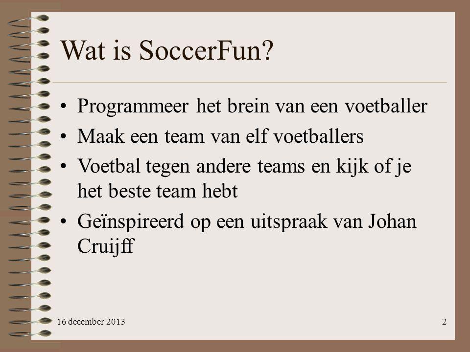 Wat is SoccerFun Programmeer het brein van een voetballer