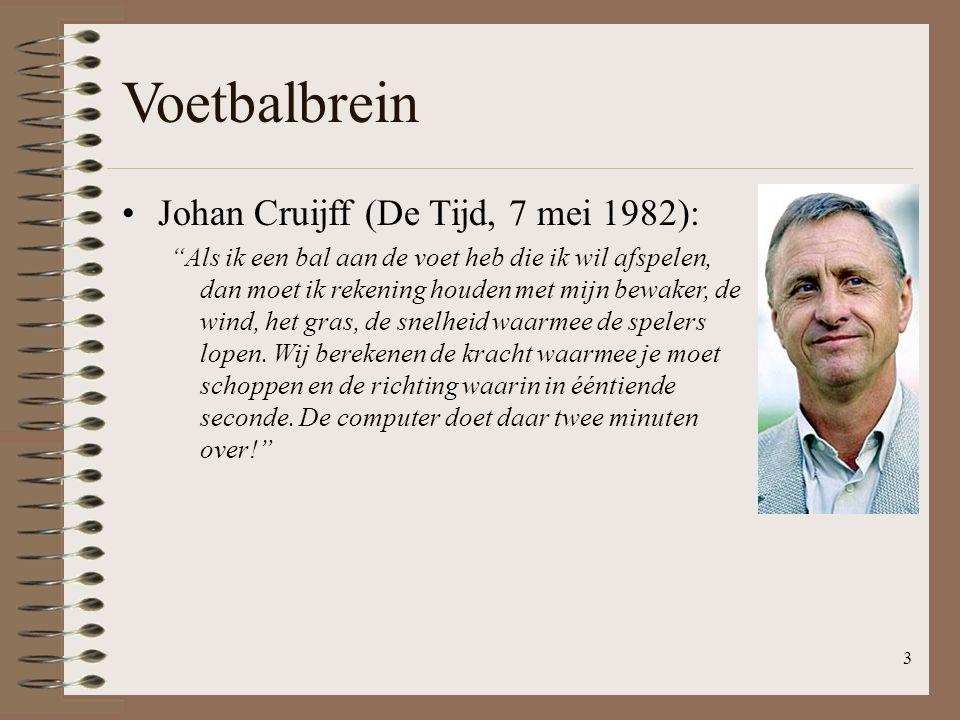 Voetbalbrein Johan Cruijff (De Tijd, 7 mei 1982):