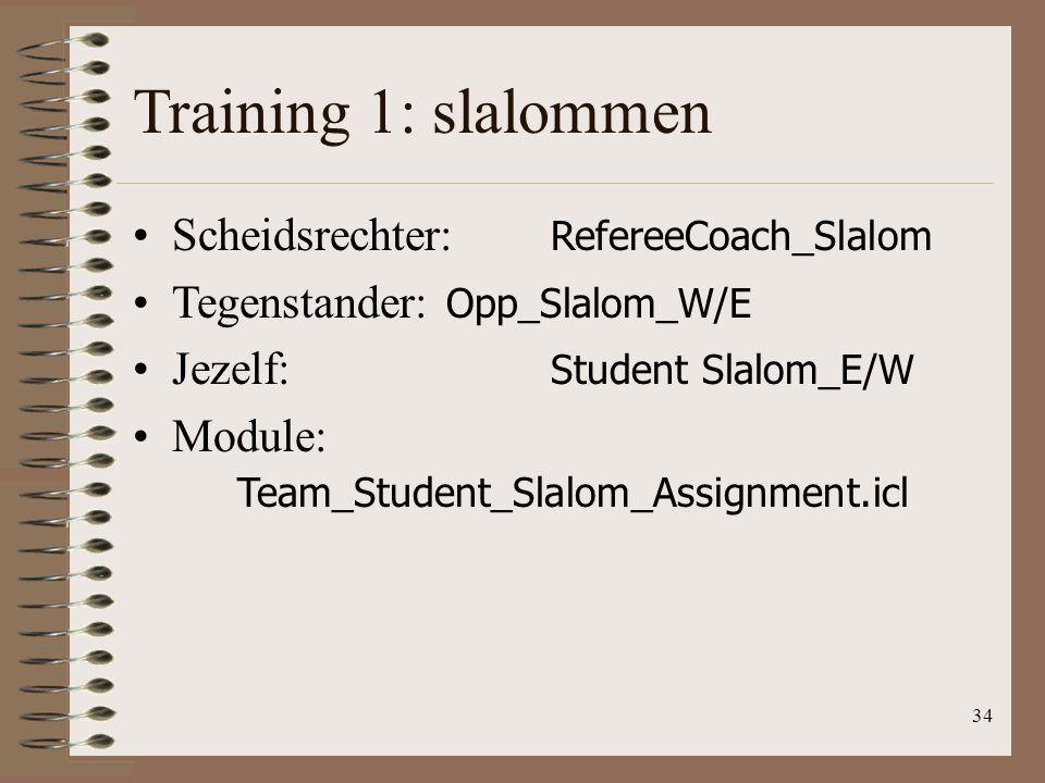 Training 1: slalommen Scheidsrechter: RefereeCoach_Slalom