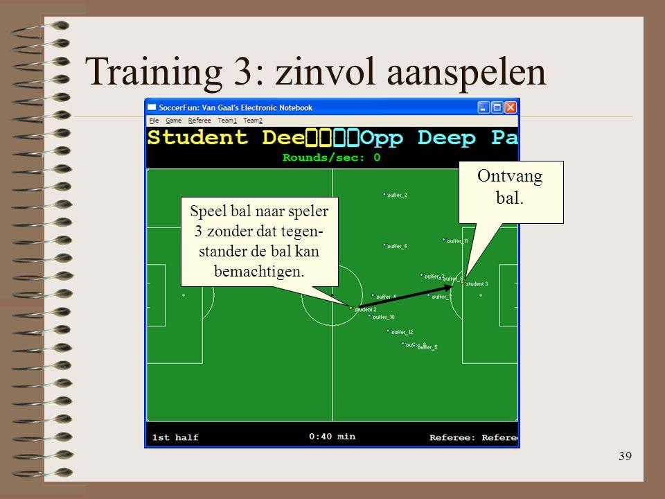Training 3: zinvol aanspelen