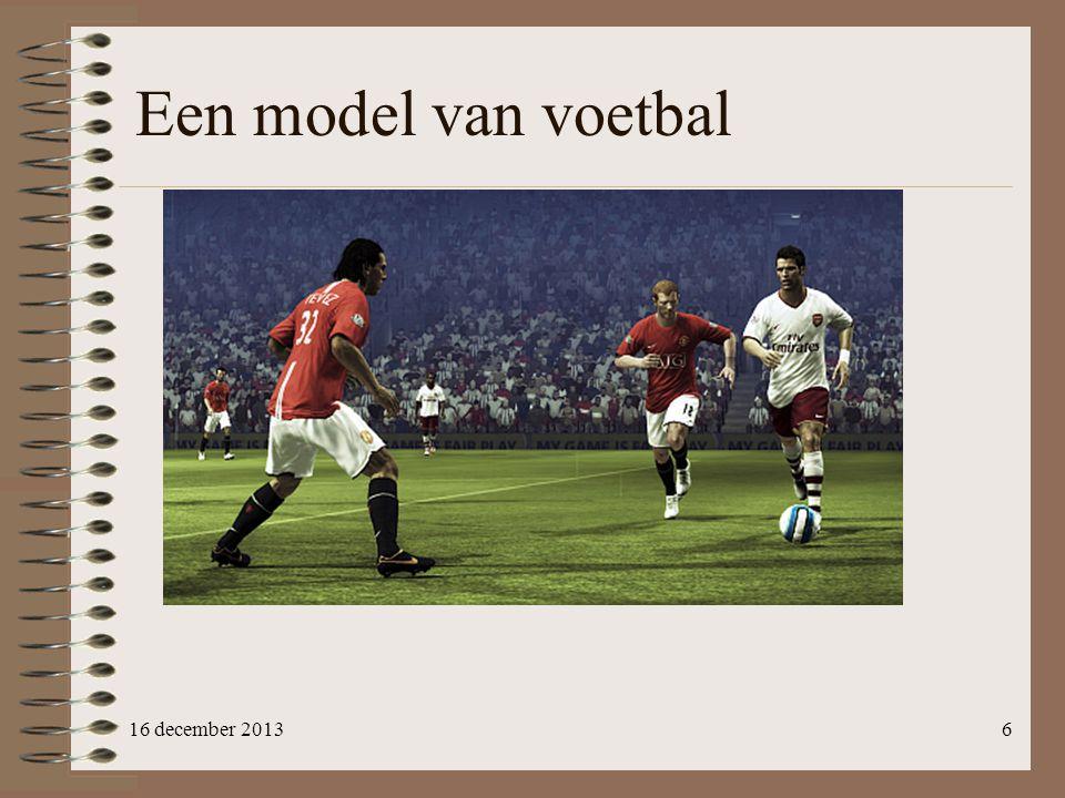 Een model van voetbal 16 december 2013
