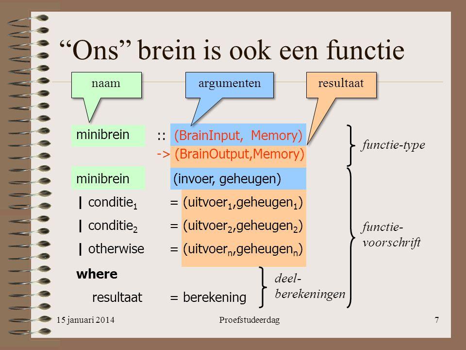 Ons brein is ook een functie
