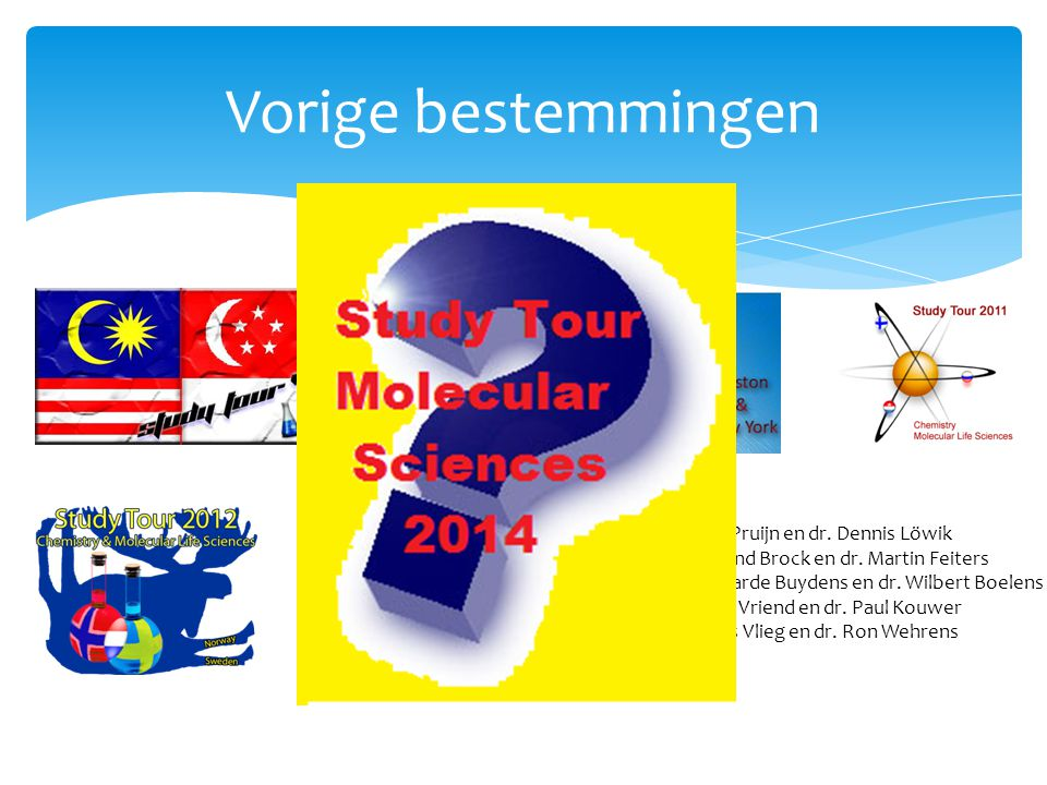 Vorige bestemmingen 2013: Prof. Ger Pruijn en dr. Dennis Löwik