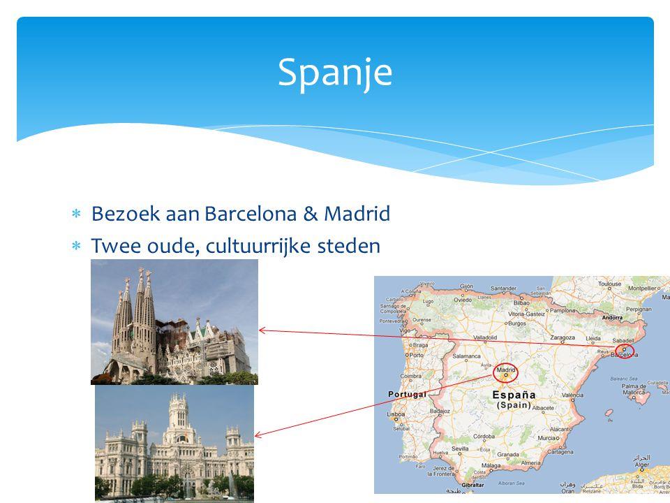 Spanje Bezoek aan Barcelona & Madrid Twee oude, cultuurrijke steden