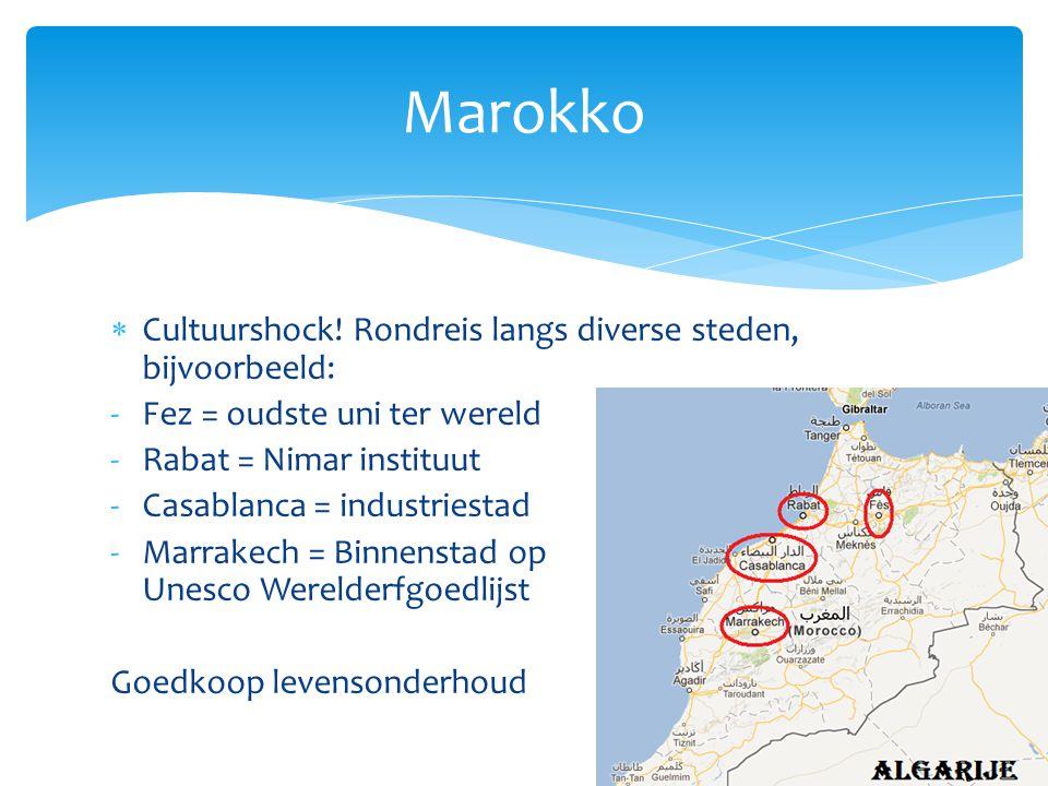 Marokko Cultuurshock! Rondreis langs diverse steden, bijvoorbeeld: