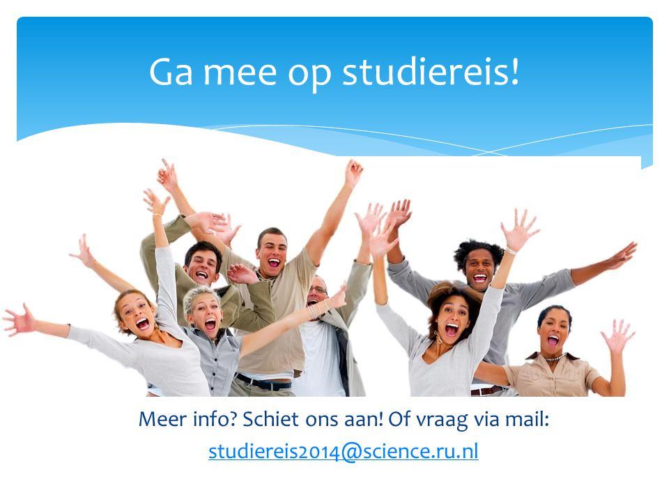 Ga mee op studiereis!