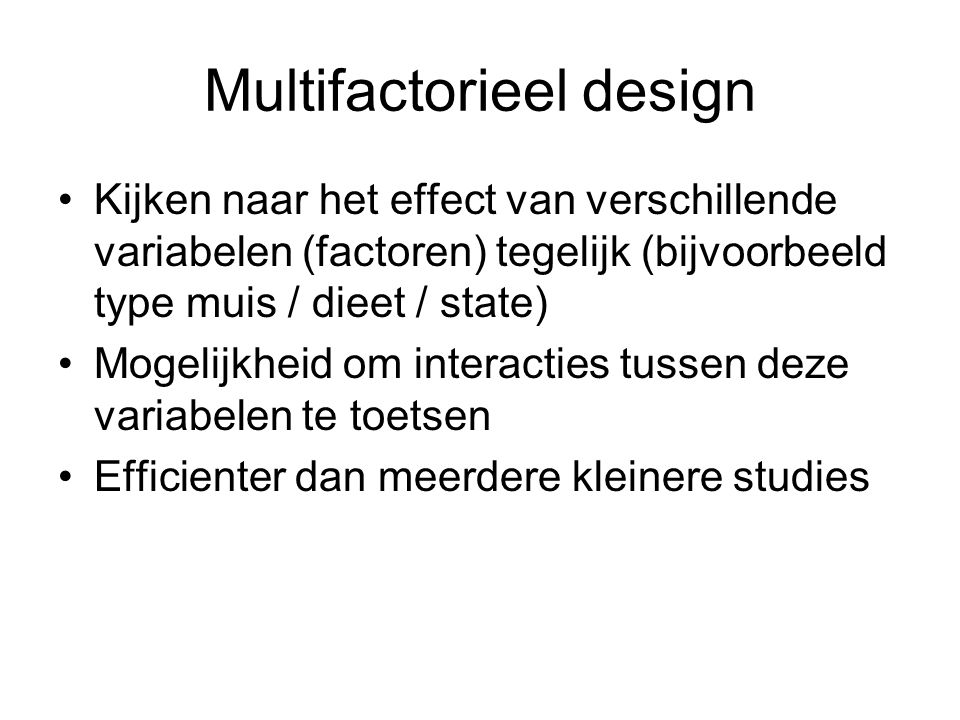 Multifactorieel design
