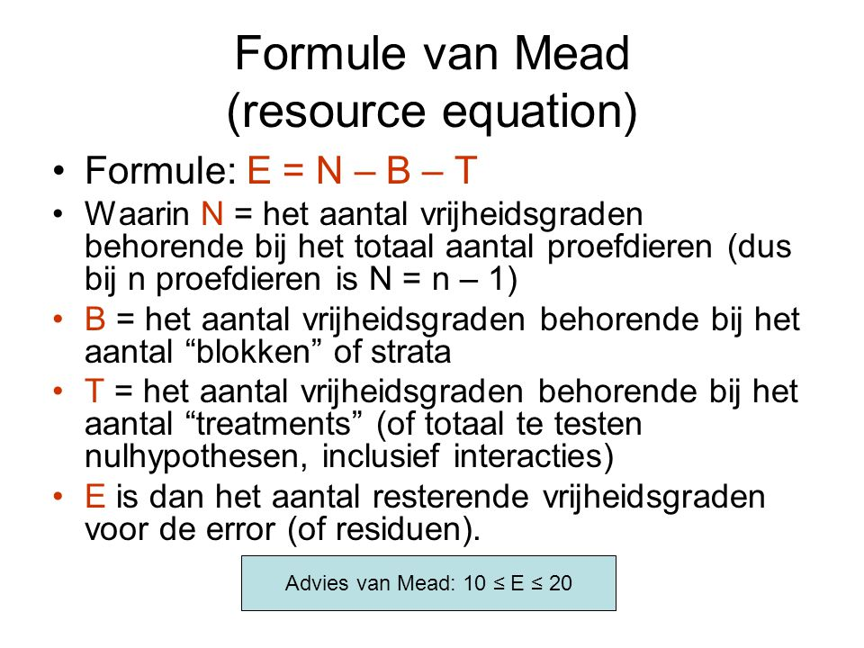 Formule van Mead (resource equation)