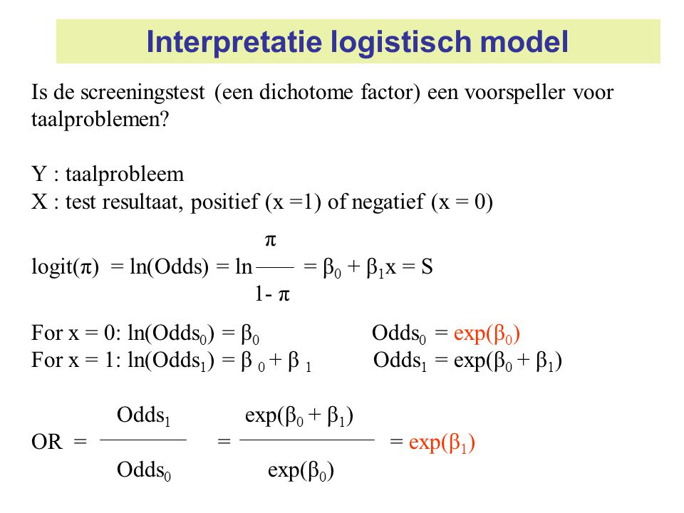 Interpretatie logistisch model
