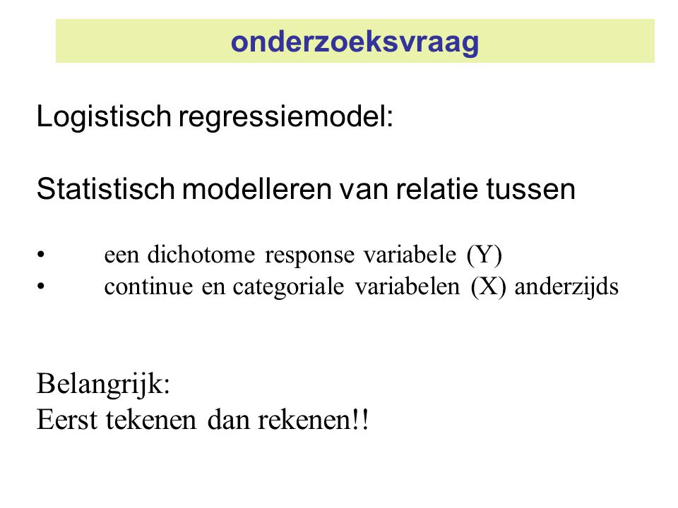 Logistisch regressiemodel: Statistisch modelleren van relatie tussen