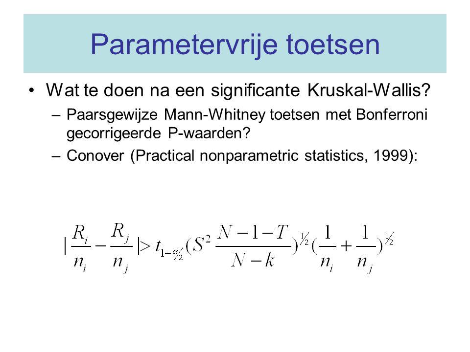 Parametervrije toetsen