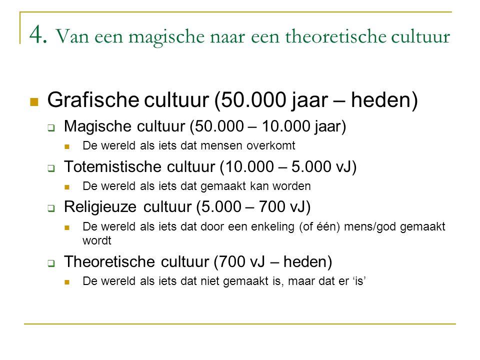 4. Van een magische naar een theoretische cultuur