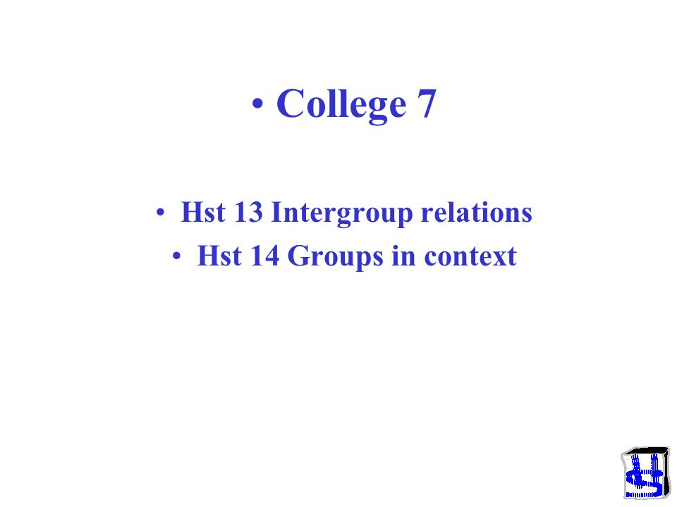 Hst 13 Intergroup relations