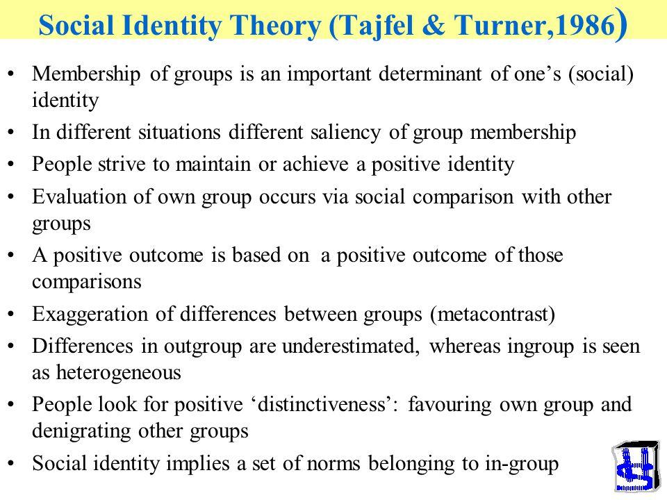 Social Identity Theory (Tajfel & Turner,1986)